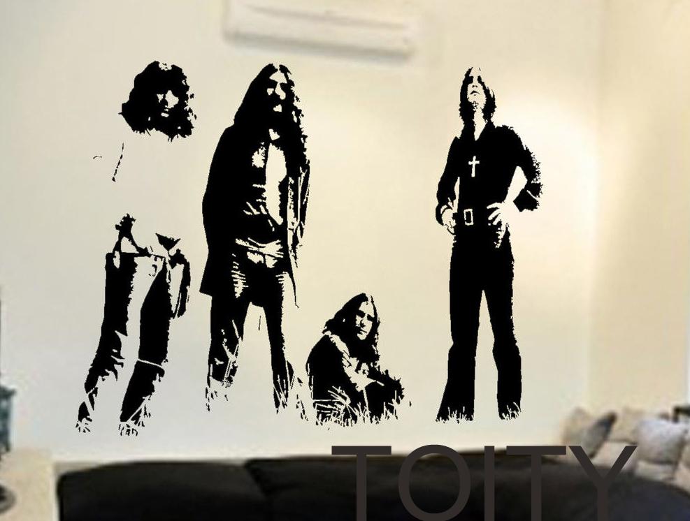 Black Sabbath Wall Stickers English Rock Band Vinyl Decals Heavy Metal Art Decor Dorm Home Room Polka Tulk Blues Music Mural(China (Mainland))