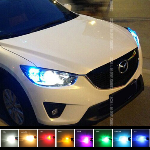 SCOE Mazda 2 3 6 5 CX-5 Car 6SMD LED Width Clearance Light Lamp Bulb Source White Blue Crystal Blue Warm White Yellow Red Purple(China (Mainland))
