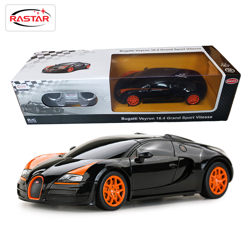 2016 New Licensed Rastar 1:24 Mini RC Cars Electric 4CH Remote Control Toys Radio Controlled Bugatti Grand Sport Vitesse 47000(China (Mainland))