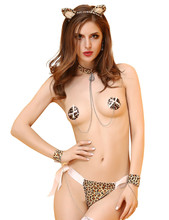 Buy Hot Selling Sexy Catwoman Costume Woman 3-point Leopard Erotic Lingerie Set Sexy Underwear Sexy Game Uniforms Temptation