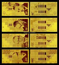 24K Israel Gold Banknote 4 Models Israel Shekel Paper Money Set 20 50 100 200(China (Mainland))