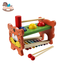 Arshiner Children Kid Wooden Musical Toys Xylophone Wisdom Development Wooden Instrument Knock Ball With Slide Out Piano(China (Mainland))