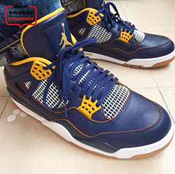 New arrival original high quality authentic retro Jordan 4 11 shoes all blue men cheap to sale US size 8-13 Free Shipping(China (Mainland))