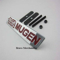 1set automobile accessaries car styling front hood grille grill badge emblem with MUGEN POWER logo brands