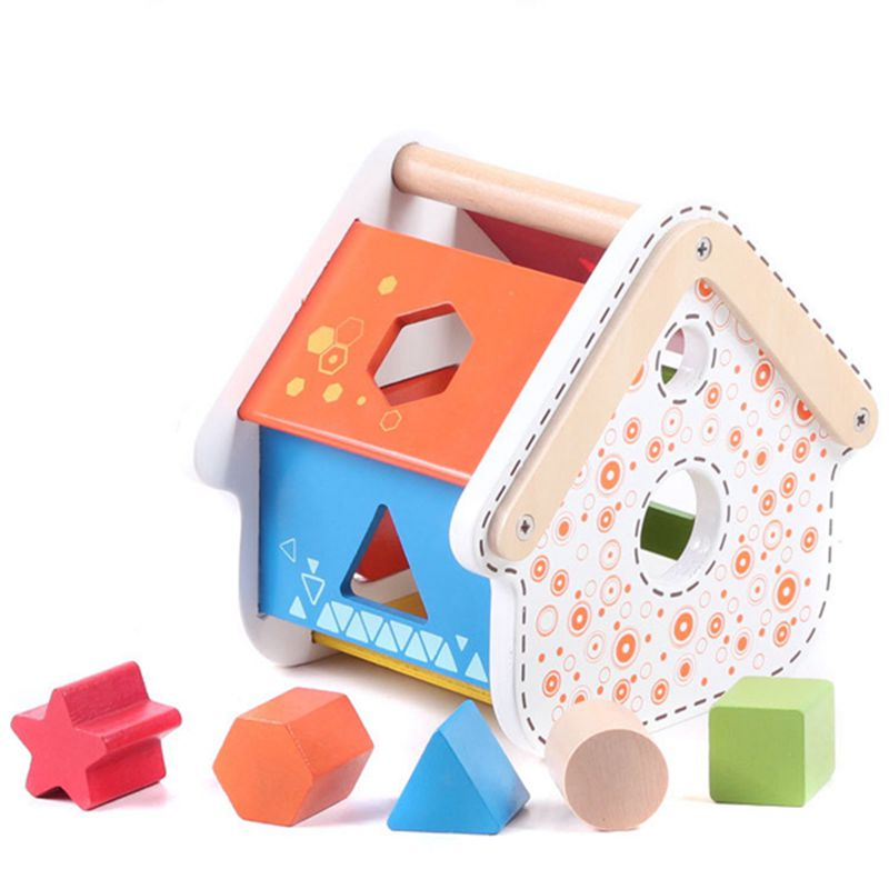 Beautifully designed wooden cage geometry geometric shapes cognitive matching toys early childhood cognitive<br><br>Aliexpress