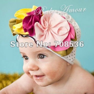 Free shipping 100pcs/lot mix 27 styles TOP BABY flower hat ,Baby Hats and Caps Beanie Cotton /topbaby/Girls hat EMS<br><br>Aliexpress