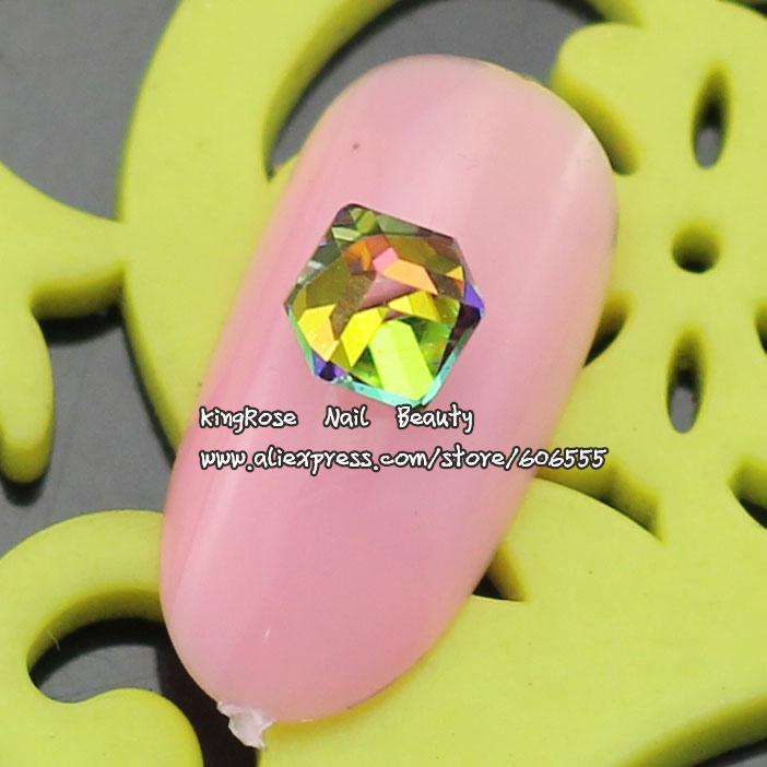 TA033 NEW 3D Glass Rhinestone for Nail Art DIY Jewelry 4mm*4mm 10pcs/lot Glitter Nail Stuff free shipping(China (Mainland))