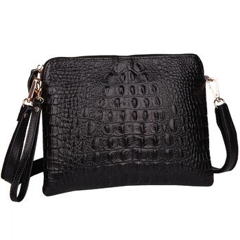 2015 натуральная кожа женщины вестник мешки мода Crossbody плече сумки аллигатор крокодил шаблон дамы конверт клатч