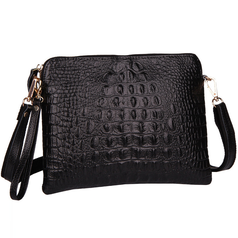 2015 Genuine Leather Women Bag Fashion Crossbody Shoulder Messenger Bags for Women With Crocodile Pattern Ladies Envelope Clutch(China (Mainland))