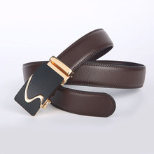 Men Belt 2016 Fashion New Luxury Genuine Leather Brand Designer Belts Men High Quality Automatic Buckle Belt For Business Male(China (Mainland))