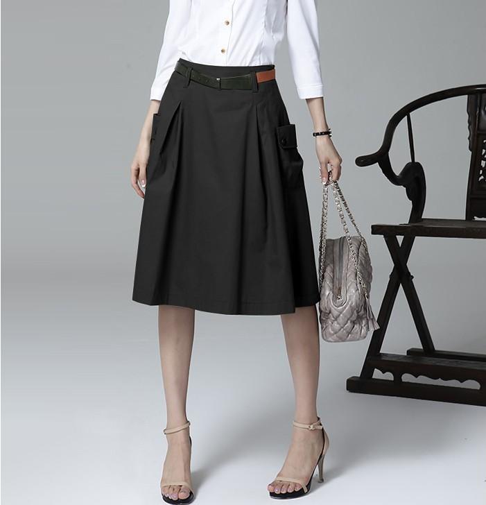 a line skirt with pockets redskirtz
