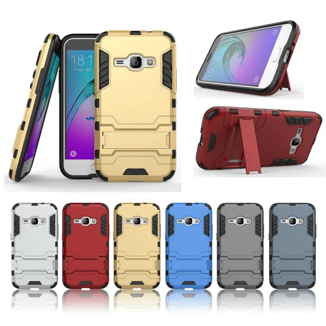 For Samsung Galaxy J1(2016) J120F Phone Cases Hybrid Dual Heavy Duty Hard PC+Silicone Shield 3D Armor Back Cover(China (Mainland))