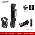 Tactical Flashlight 2000 lumens T6 501B LED Flashlight Flash Torch Light Charger Battery Tactical mount