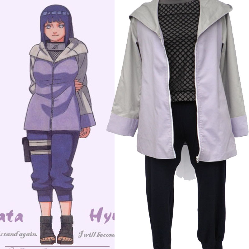 Cartoon Character Naruto Hinata Hyuga Cosplay Costumes Women Dress Up Clothing For Halloween Party Custom Made(China (Mainland))
