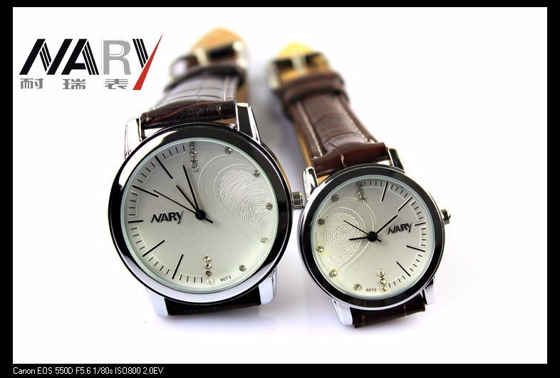 2016 Nary кварцевые часы женщин Моды классические пару моделей водонепроницаемый мужские часы лучший бренд класса люкс Магия Формы Сердца relógio