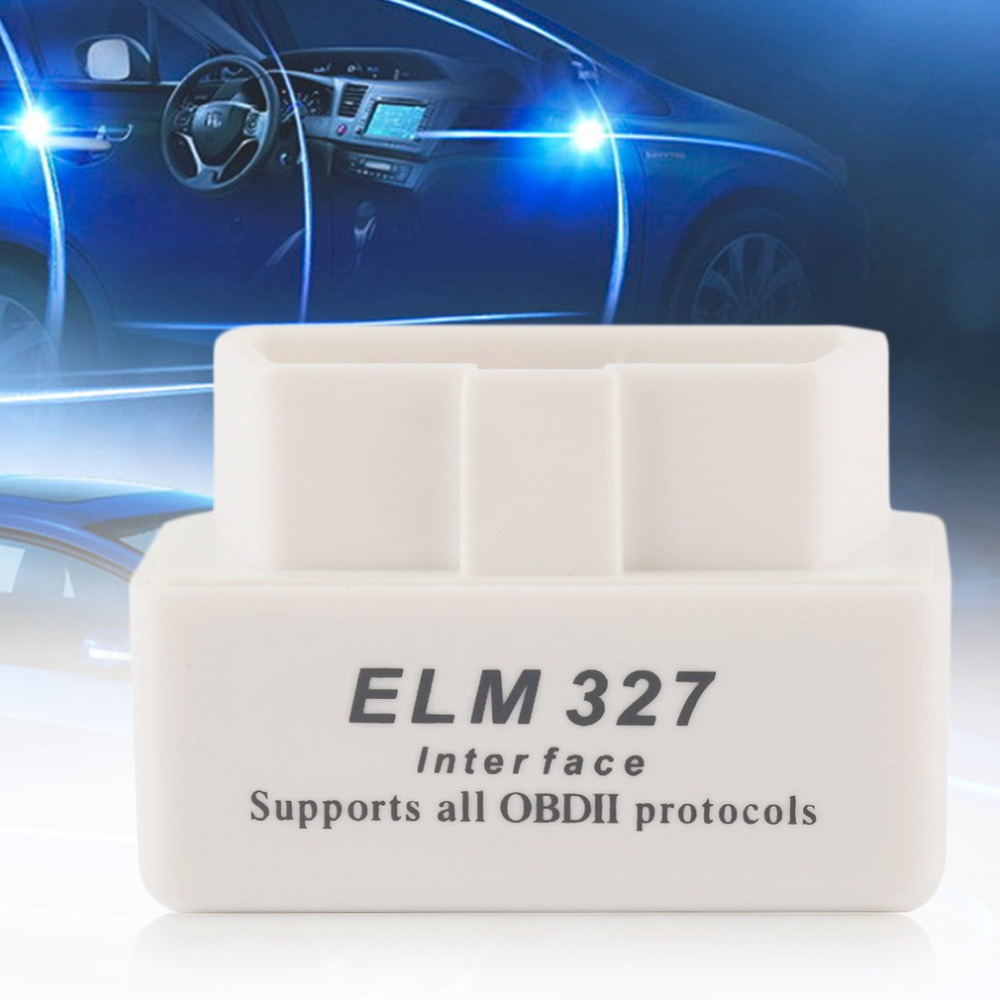 MINI ELM327 Car Auto Interface Scanner Bluetooth OBD2 V2.1 White Smart Car Diagnostic Interface ELM 327 Wireless Scan Tool(China (Mainland))