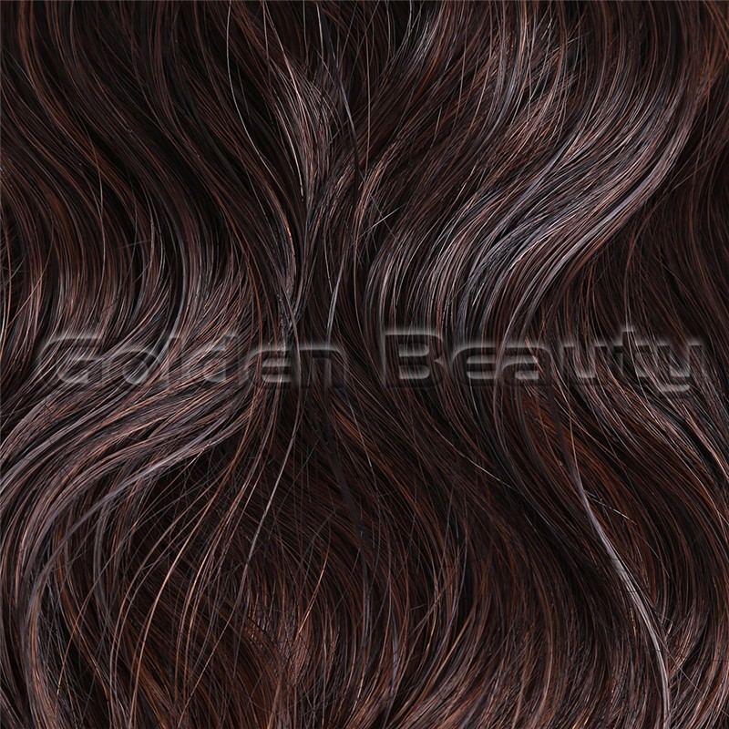 Free shipping 10inch Noble Gold Classic indian wave Synthetic weft hair extensions with ombre wave Weaving Weft for Black Women