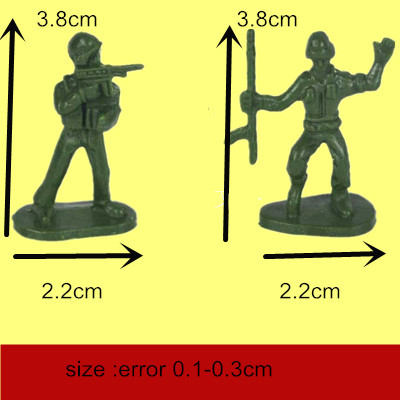 100 pieces soldiers Corps military toy model children,Commander army commander Plastic action figures toys - LOVE SUN store