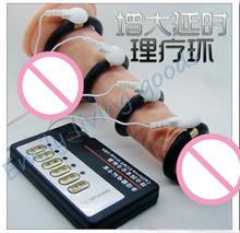 НОВЫЙ увеличение пениса роста Электронного импульса Физической терапии Задержка эякуляции пенис насос электрическим током секс-игрушки для мужчин(China (Mainland))