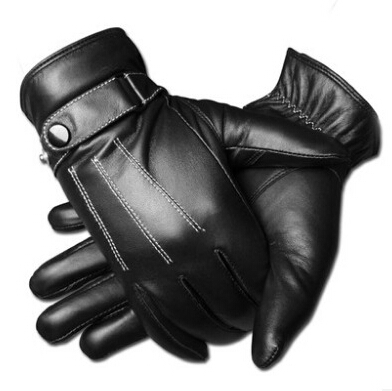 Retail Men's Leather Screen Touch Gloves Iphone/Ipad/HTC,Man's Winter Gloves,winter leather gloves - Li Mrs's store