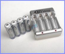 4 шт AA 2500 мАч 1,2 V перезаряжаемый аккумулятор Ni-MH + 1 пк usb-зарядное устройство