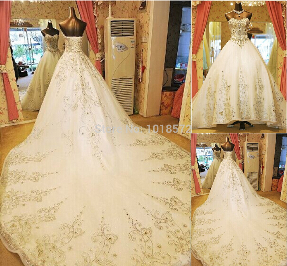 2015 gorgeous wedding dress rhinestone crystal beaded for Wedding dress shops in orlando