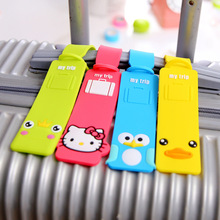 2016 New Rubber Funky Travel Luggage Label Straps Suitcase Name ID Address Tags Luggage Tags P006(China (Mainland))