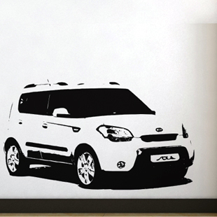 Free Shipping Wall stickers Home decor SIze:560mm*960mm PVC Vinyl paster Removable Art Mural Kia cars M-146(China (Mainland))