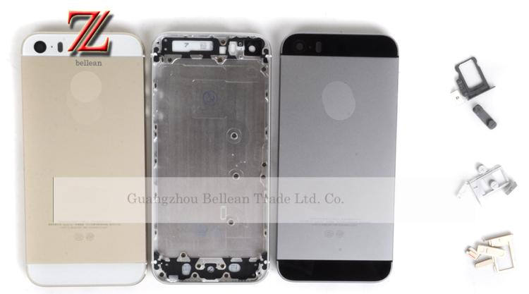 Replacement Full Housing Back Battery Cover Middle Frame Metal Back Housing for iPhone 5s 1pcs free shipping china post(China (Mainland))