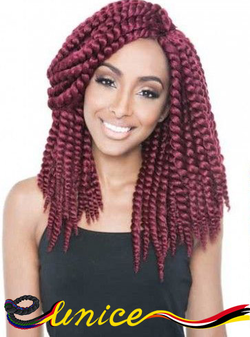 "Best Hair Extensions Crochet Box Braids 12"" 14"" 16"" Havana Mambo Twist Synthetic Braiding Hair Easy Braids For Kids And Women"