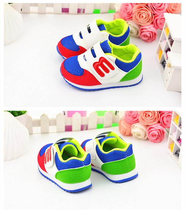 Весна осень младенцы спортивная обувь bule розовый цвет мальчики и девочки на открытом воздухе малыша обувь для ходьбы обувь