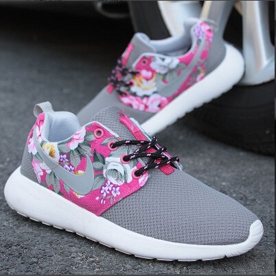2015 New Design Flower trainers women sports shoes hot sale London Mesh casual Jogging shoes Women sneakers Free Shipping(China (Mainland))