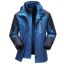 Men thermal outdoor jacket winter three-in outdoor twinset fleece liner hiking clothing