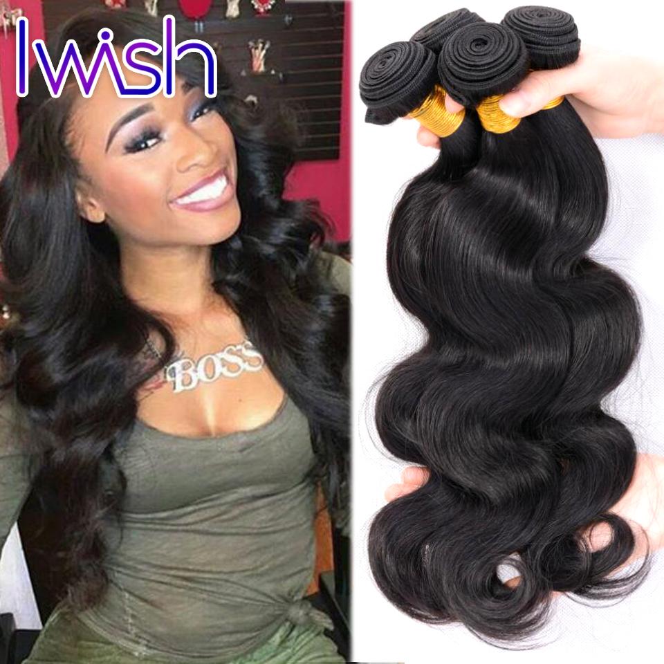 3 Bundles Brazilian Virgin Hair Wet Wavy Virgin Brazilian Hair Iwish Brazilian Body Wave Human Hair Brazilian Hair Weave Bundles(China (Mainland))