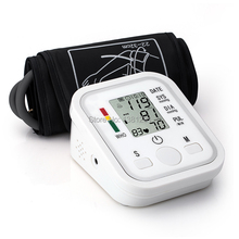 2014  wholesale Health Monitors Digital Upper Arm Blood Pressure Pulse Monitor Portable Blood Pressure Monitor Free Shipping