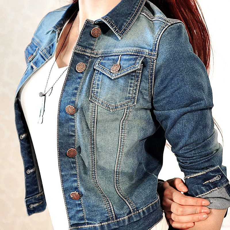 Womens Denim Jean Jacket - Coat Nj