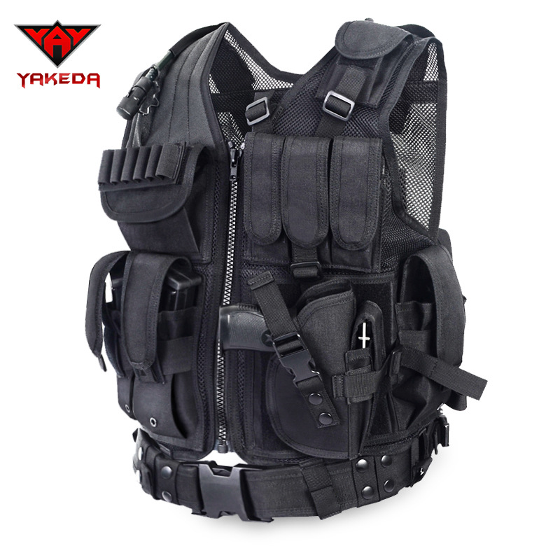 2016 Police Tactical Vest Outdoor Camouflage Military Body Armor Sports Wear Hunting Vest Army Swat Molle Vest Black(China (Mainland))