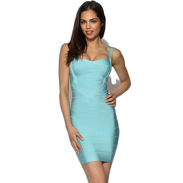 Top Quality  Rayon Bodycon dress  Spaghetti Strap  MINI  Sexy  Club Celebrity  HL bodycon bandage dress