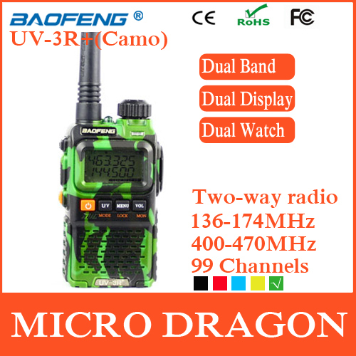 Original BaoFeng UV-3R+ Professional Dual Band Transceiver FM Ham Two Way Radio Walkie Talkie Transmitter cb Radio Station