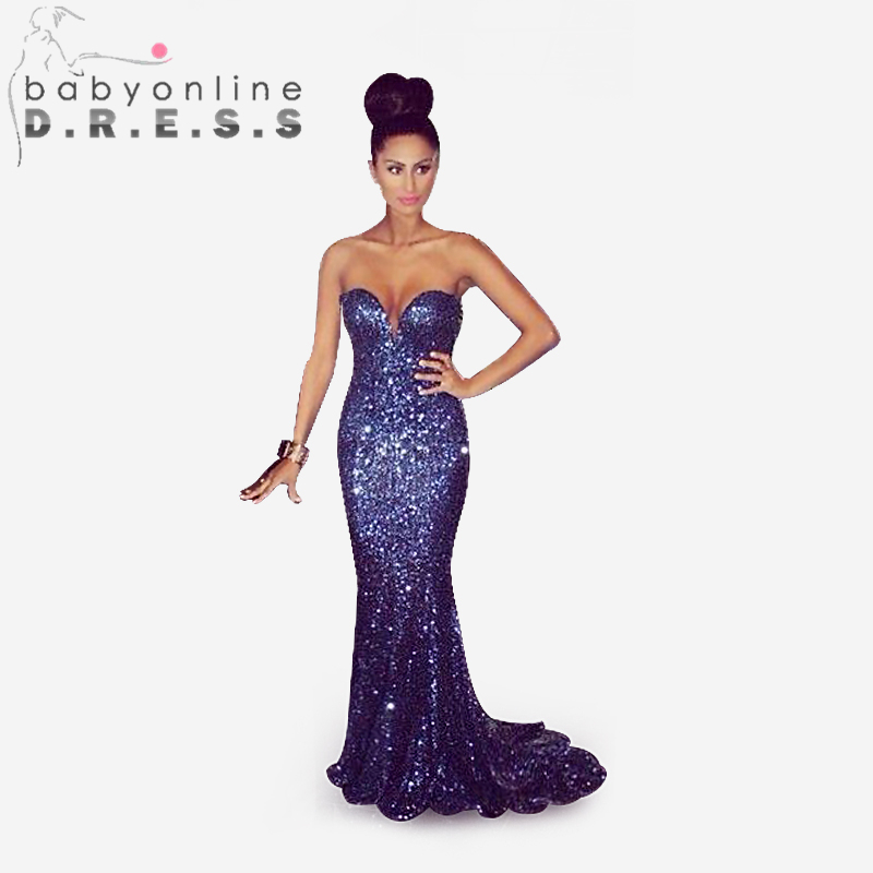 Sparkly prom dresses blue
