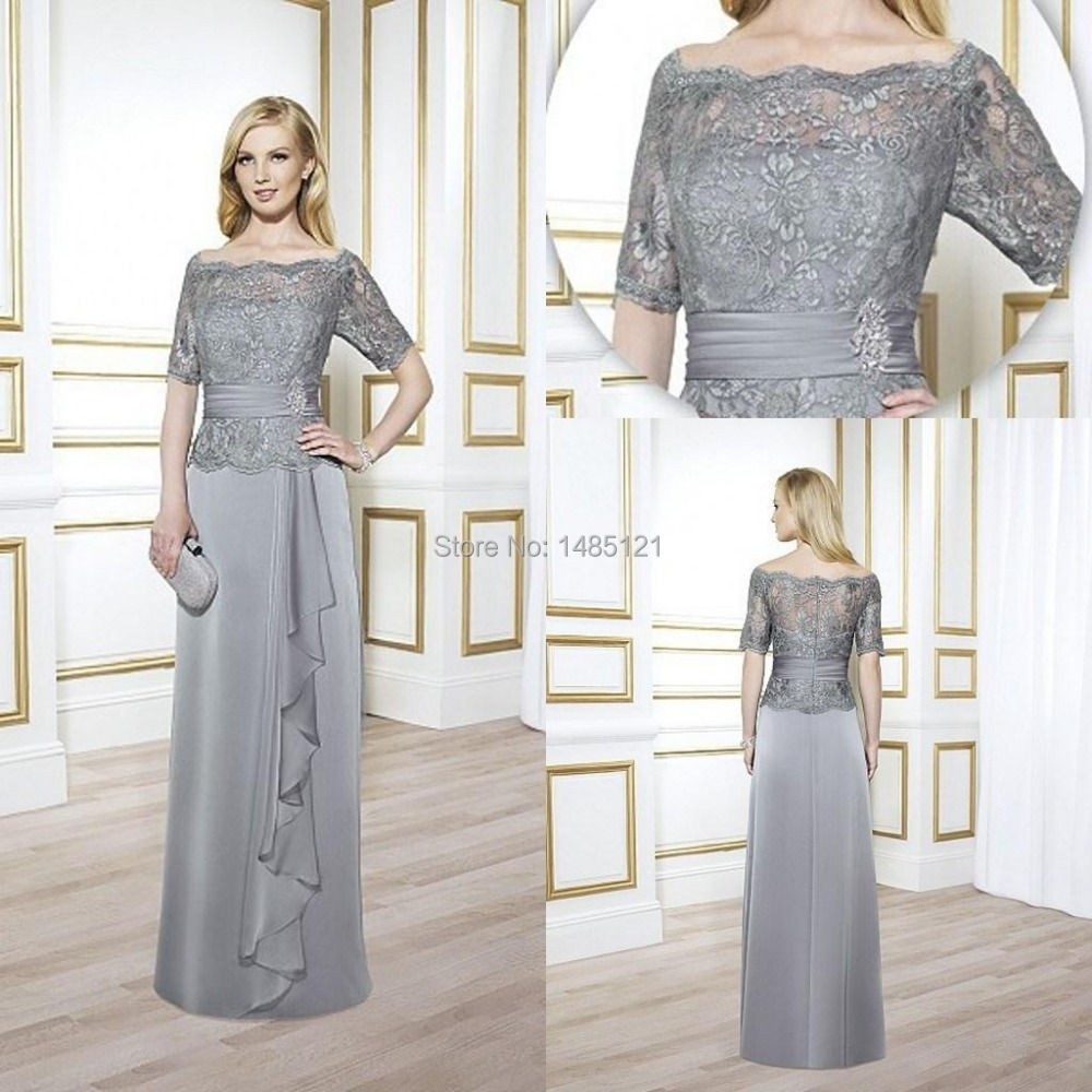 Vintage Mother Of The Bride Groom Wedding Dresses Grey