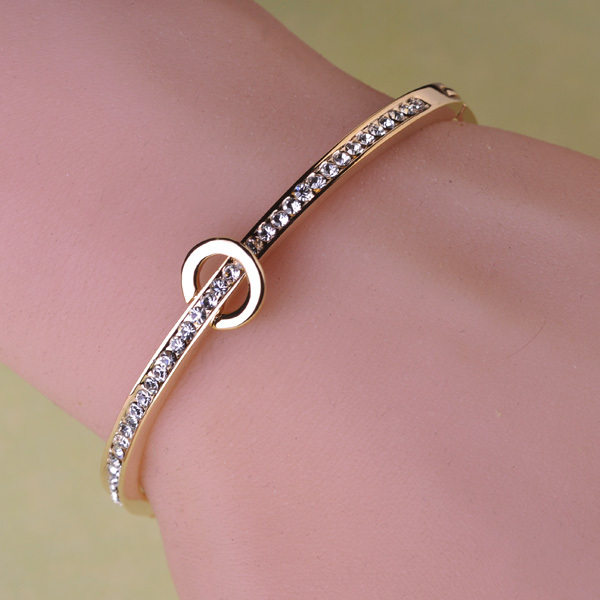 Hot New 2015 Fashion Bracelets Bracelete Feminino Jewerly Stainless Steel 18K Gold Bracelet And Bangles For Women Brand Bijoux<br><br>Aliexpress