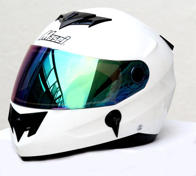 Mary Star children electric car helmet motorcycle helmet MASEI 848 full helmet white