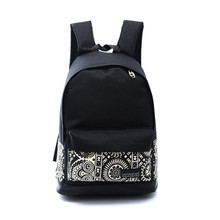 Boys Girls Backpack Unisex Canvas Rucksack Backpack Book Shoulder Bag Hot Sale New Women School Bag Printing School bag Lucky(China (Mainland))