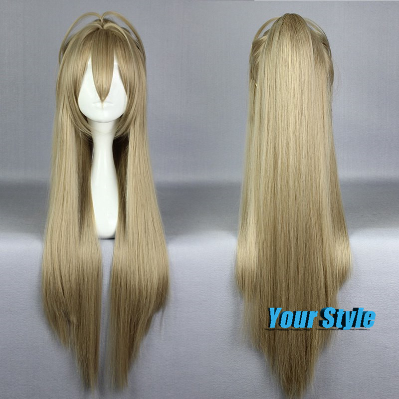 88cm Cheap Sexy Long Blonde Silk Straight Cosplay Wigs Anime  for Women Ladies Sento Isuzu Synthetic Heat Resisitant  Hair Wigs<br><br>Aliexpress
