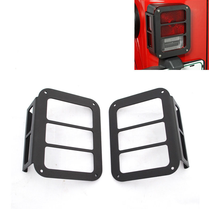 2pcs Auto Black Rear Light Lamp Cover Taillight Guards For Jeep Wrangler JK 07 -2015 car cover <br><br>Aliexpress