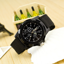 New Arrival Casual Quartz watch men Switzerland military Watches sport Wristwatch Canvas band Wristwatch SB041P