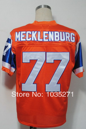 AliExpress cheapest discount #77 Karl Mecklenburg Jersey Throwback American Football Jersey,Stitched Logo Embroidery Free Shippi(China (Mainland))
