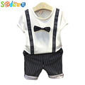 Sodawn In the summer of 2017 the new tie gentleman suit children baby two piece fashion
