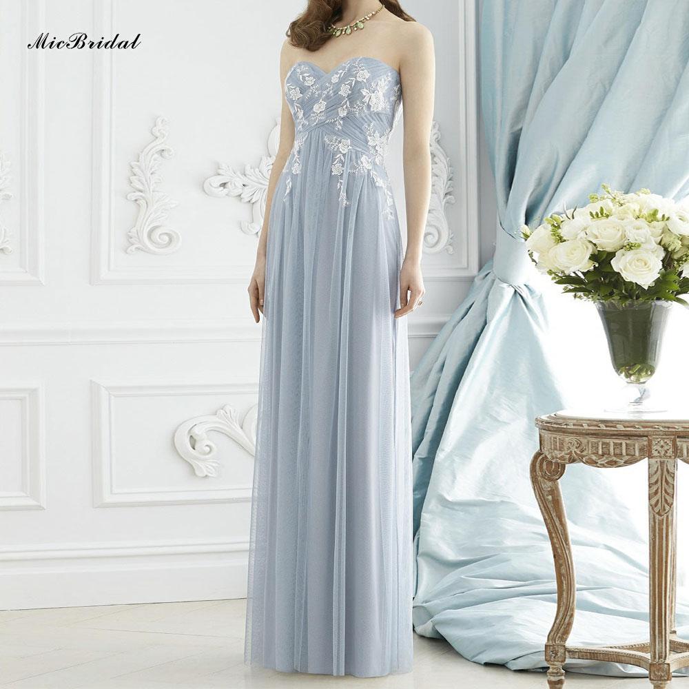 Bridesmaid Dresses Dusty Blue - Cheap Wedding Dresses